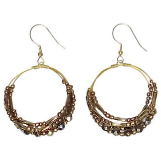 Handmade Amal Hoop Earrings India Gold
