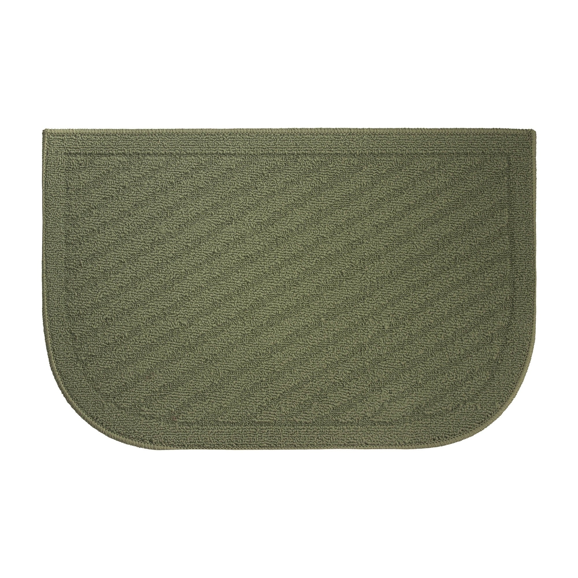 Griddle Textured Loop Sage Green Slice Wedge Shaped Solid Kitchen Rug Sage Green 18 X 28 In Overstock 14575735