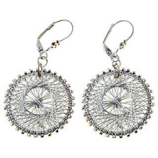 Handmade Amiti Silvertone Wire Earrings (India)