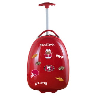 Denco Sports Kids' San Francisco 49ers Hardside Carry-on Suitcase
