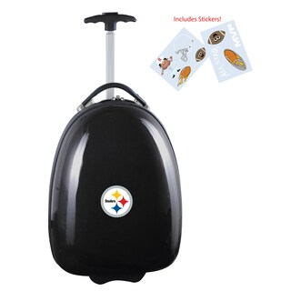 Denco Sports Pittsburgh Steelers Black ABS Kids Hardside Carry-on Suitcase