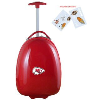 Denco Sports Kids' Kansas City Chiefs Hardside Carry-on Suitcase