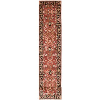 ecarpetgallery Hand-knotted Serapi Heritage Brown Wool Runner Rug (2'7 x 20')