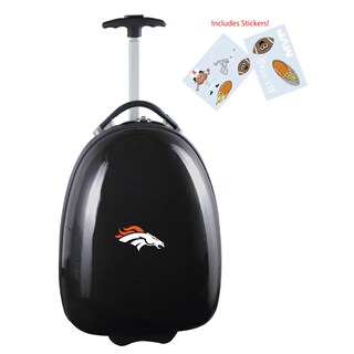 Denco Sports Denver Broncos Kids' Black Hardside Carry-On Suitcase
