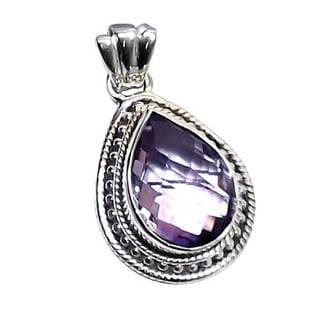 Handmade Sterling Silver Gemstone Pendant (India)