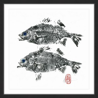 'Bass Twins' Framed Painting Print