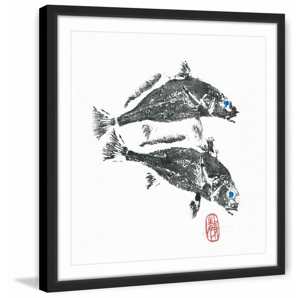 'Fish Get off My Back' Framed Painting Print