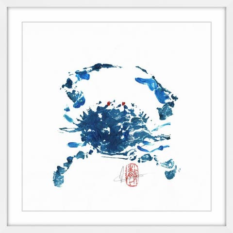Marmont Hill - Handmade Blue Crab Framed Print