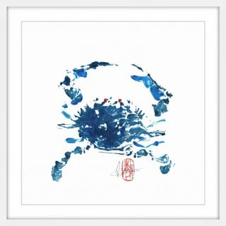 'Blue Crab' Framed Painting Print