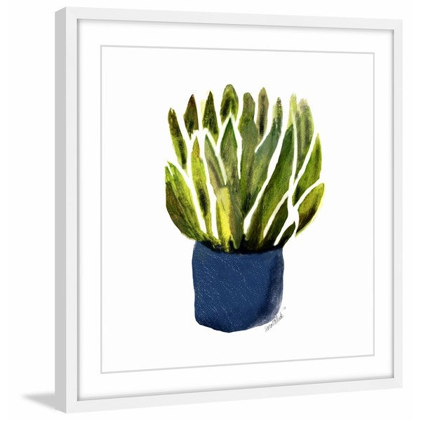 'Succulent on Display' Framed Painting Print