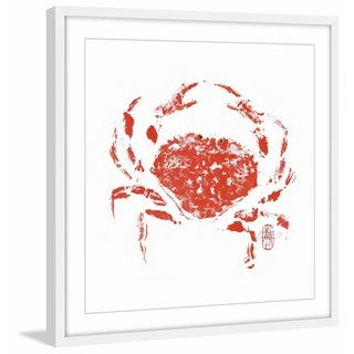Marmont Hill - Handmade Lucky Crab Framed Print