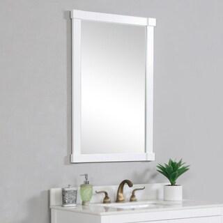 Contemporary White Wall Mirror