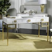 Safavieh Couture High Line Collection Neria Lacquer White/ Gold Writing Desk