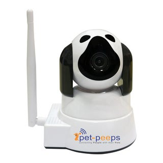 Pet-Peeps White/Black Interactive Indoor 2-way Puppy Pet Camera and Monitor