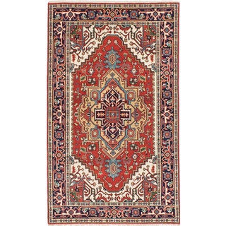 Ecarpet Gallery Hand-knotted Serapi Heritage Brown Wool Rug (4'11 x 8'3)
