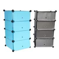SNAP Cubes 4-Tier Storage with Doors