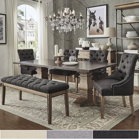 Voyager Wood And Zinc Barade 6 Piece Rectangle Dining Set By Inspire Q