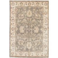 Ecarpet Gallery Hand-knotted Royal Ushak Grey, Yellow Wool Rug (6'2 x 9'0)