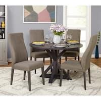Simple Grey Living 5-Piece Glen Trestle Dining Set