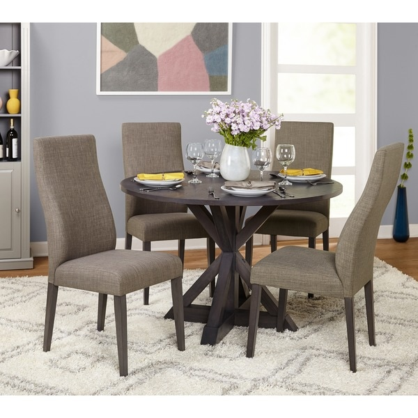 Simple Grey Living 5 Piece Glen Trestle Dining Set