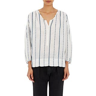 Nili Lotan Women's Provence White Striped Blouse|https://ak1.ostkcdn.com/images/products/14577115/P21124371.jpg?impolicy=medium