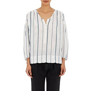 Nili Lotan Women's Provence White Striped Blouse (3 options available)