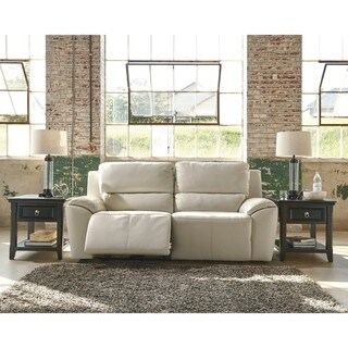 Signature Design by Ashley Valeton Cream 2 Seat Reclining Power Sofa