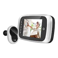 3.5 in. Screen Door Viewer with Doorbell, IR and SD Card