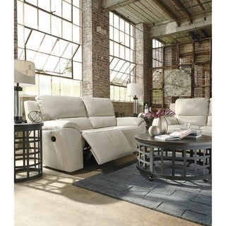Signature Design by Ashley Valeton Cream 2 Seat Reclining Sofa