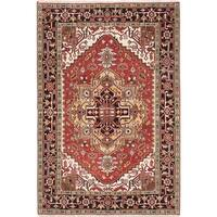 Ecarpet Gallery Hand-knotted Serapi Heritage Brown Wool Rug (6'2 x 9'2)