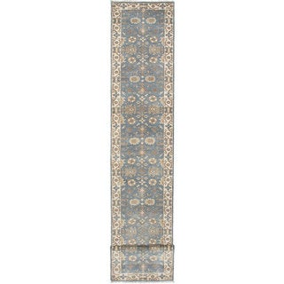 Ecarpet Gallery Hand-knotted Royal Ushak Green Wool Rug (2'7 x 29'10)