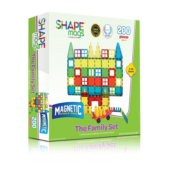 ShapeMags The Family Set 200-Piece 3D Magnetic Tiles