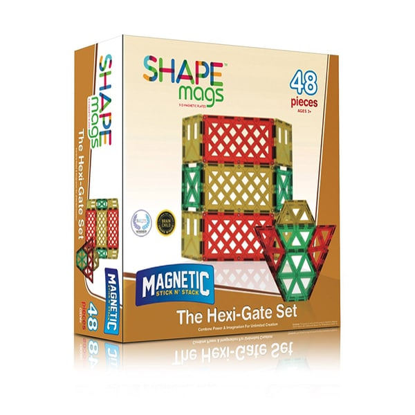 ShapeMags The Hexi-Gate Set 3D Magnetic Tiles (Case of 48)