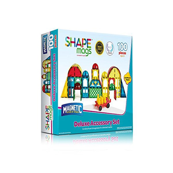 ShapeMags 100-piece 3D Magnetic Tiles Deluxe Accessory Set