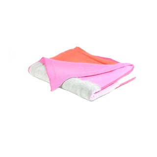 Lots of Color Soft Cotton Baby Blanket (Pink or Blue)