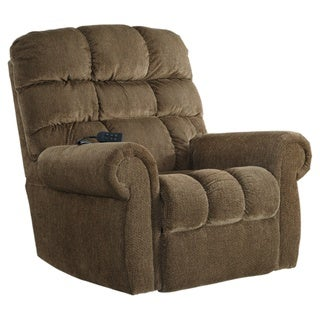 Signature Design by Ashley Ernestine Brown Power Lift Recliner