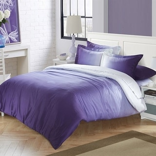 BYB Cotton Sateen Ombre Purple Comforter (Shams Not Included)