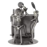 Handmade Upcycled Auto Parts Sculpture, 'Rustic Cantina' (Mexico)