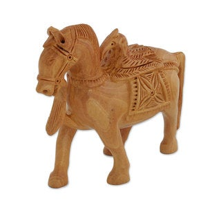 Handmade Wood Sculpture, 'Friendly Alliance' (India)