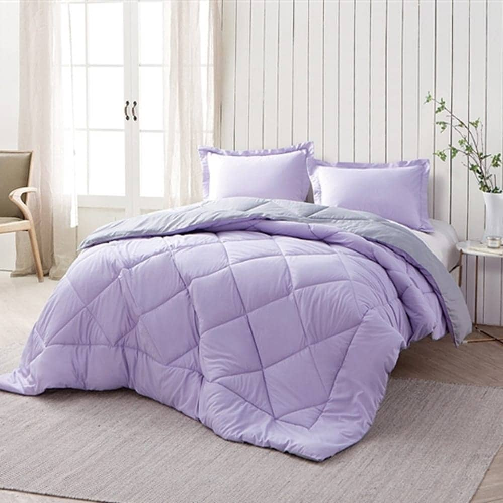 Byourbed BYB Orchid Petal/Alloy Reversible Comforter (Sha...