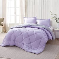 BYB Orchid Petal/Alloy Reversible Comforter (Shams Not Included)