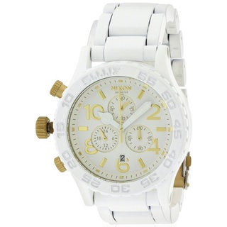Nixon Men's White Stainless Steel Chronograph Watch