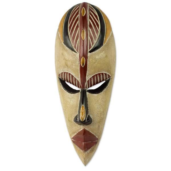 African Wood Mask, 'Farin Chiki' (Ghana)