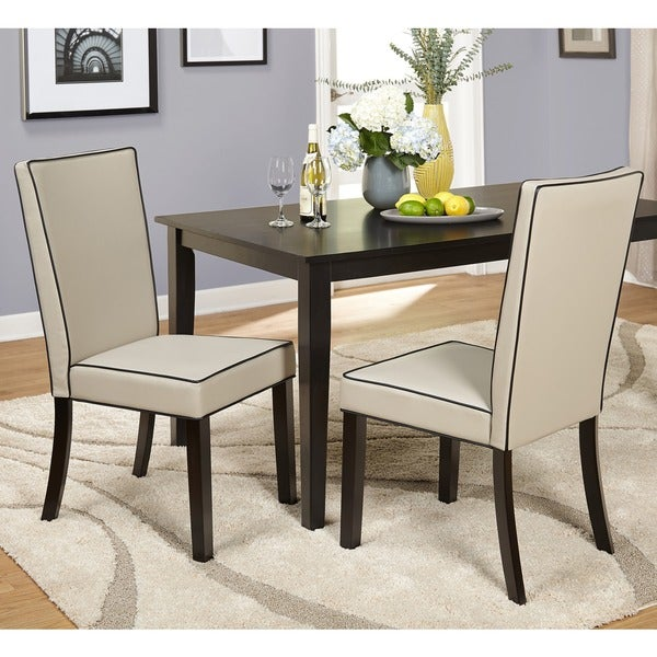 Shop Simple Living Giana Parson Dining Chairs (Set of 2) - Free ...