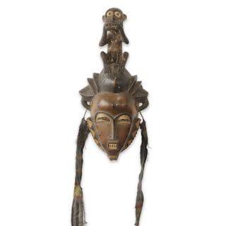 African Mask, 'Baule He Monkey' (Ghana)