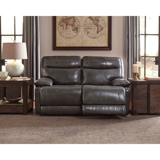 Signature Design By Ashley Palladum Grey Reclining Loveseat