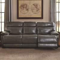 Signature Design by Ashley Palladum Grey Reclining Sofa