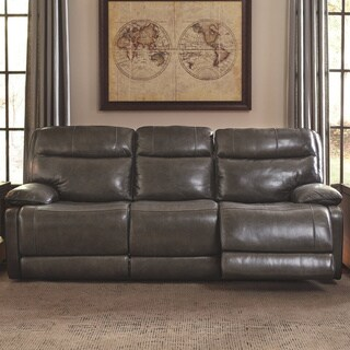 Signature Design by Ashley Palladum Grey Reclining Sofa