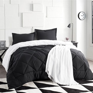 BYB Black/White Reversible Comforter (Shams Not Included)