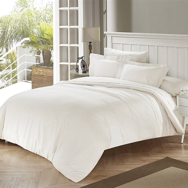 BYB White Sand Tencel Cotton Blend Comforter (Shams Not Included)